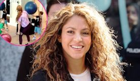 Shakira's Sons Pelt Her With Exercise Balls During Workout: 'Mom Life'