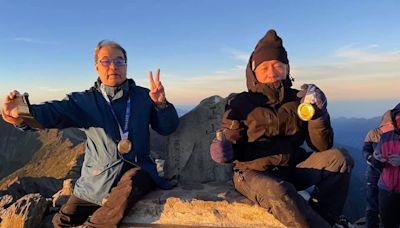 超強!王齊麟、李洋爸爸為兒還願 國慶帶奧運金牌攻頂玉山喝金牌-生活-HiNet生活誌