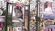 On 24th anniversary of Princess Diana's death, people gather to mourn