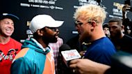 Jake Paul & Floyd Mayweather Break Out Into Fight Ahead Of Logan's Boxing Match