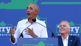 """Obama stumps for McAuliffe, urges Virginians not """"to go back to the chaos"""" of Trump years"""