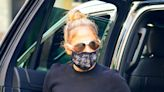 Jennifer Lopez's Blinged-Out Face Mask Takes Her Love for Sparkles to Another Level