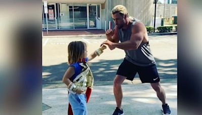 Chris Hemsworth's Kid Trains Just Like Thor In Cute Viral Video