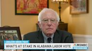 Sen. Bernie Sanders on Historic Alabama Unionizing Vote