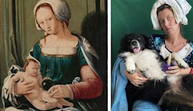 Bored Artist Starts Recreating Famous Paintings With Her Dog And They're Finn-Tastic.