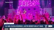 Lil Nas, Olivia Rodrigo, Justin Bieber win at the VMAs