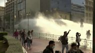 Greek police clash with protesters in lockdown