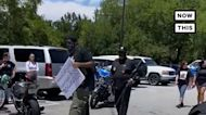 Armed Black Citizens Escort Protesters to Ahmaud Arbery Memorial