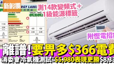 消委會測變頻式冷氣機!$5,980表現更勝$8,330!最低分一款要多付56%電費!附11招慳電貼士|好生活百科 | 好生活百科 | 新假期