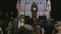 Protester interrupts Kamala Harris speech