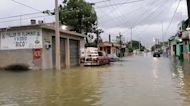 Streets Flooded in Cozumel After Hurricane Delta Hits Yucatan Peninsula