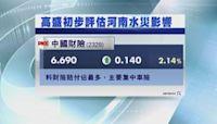 【大行報告】高盛:河南水災賠償遠低於2012年