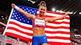 Former dancer Valarie Allman wins U.S. first Olympic track and field gold in Tokyo