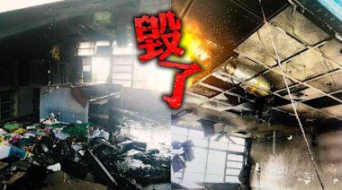 獨家|校安拉警報!少年翻牆闖台中海線國中 玩火燒「新家」 | 蘋果新聞網 | 蘋果日報