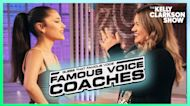 Ariana Grande And Kelly Get Competitive Playing 'Guess That Famous Voice'