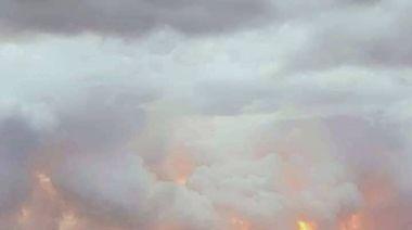 日月潭驚見「火燒雲」 火紅奇景宛若潭水被煮沸…