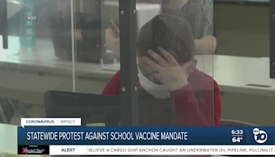 Statewide protest against California's school vaccine mandate