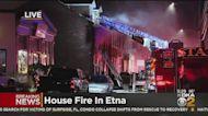Crews Battle House Fire In Etna