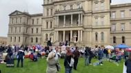 Crowd Calls for Presidential Election Audit at Michigan State Capitol