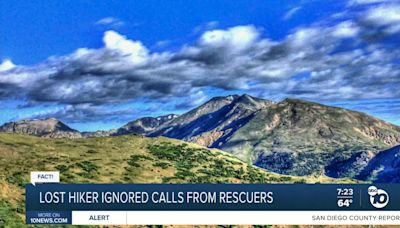 Fact or Fiction: Lost hiker ignores calls from rescue crew?