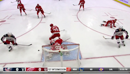 a Spectacular Goalie Save from Detroit Red Wings vs. Columbus Blue Jackets