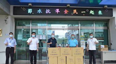 力挺大雅警防疫 中市議員蕭隆澤捐贈口罩送關懷