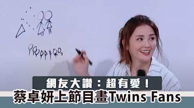蔡卓妍上節目畫 Twins Fans 網友大讚:超有愛!