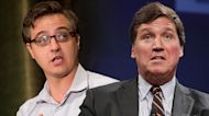 Chris Hayes asks Tucker Carlson if he has 'the guts' to resign over Fox News mandates