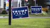 Trump yard sign lined with razor blades cuts up Michigan township worker