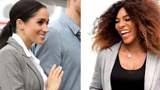 Serena Williams Flipped Out Over Meghan Markle's Gray Blazer