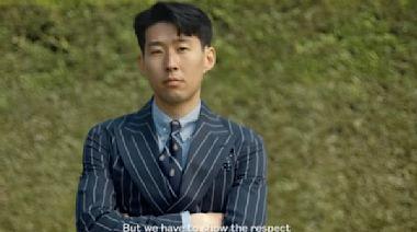 亞洲一哥孫興慜跨界網球場拍形象照 和費德勒穿同款毛衣