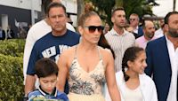 Jennifer Lopez Treats Twins Emme & Max, 13, To A Family Night Swim While A-Rod Is Nowhere In Sight