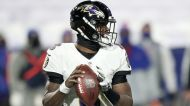 Concussion forces Ravens' Lamar Jackson out of playoff game vs. Bills