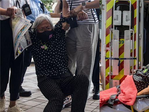 壹傳媒案|王婆婆與保安爭執被拉出法院 後感不適被送院治理