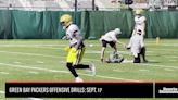 Green Bay Packers Offensive Drills: Sept. 17