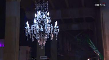 Chandelier worth $4.8 million hangs from public bridge in Canada
