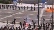 Greek police fire tear gas at demonstrators