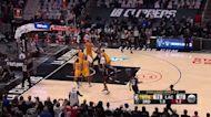 Terance Mann with a buzzer beater vs the Utah Jazz