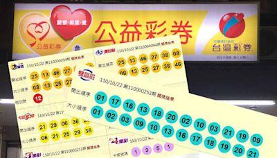 10/22 大樂透、今彩539、雙贏彩 頭獎均摃龜!