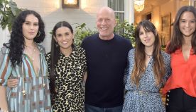 Bruce Willis' daughter Rumer teaches his 6-year-old how to ride a bike