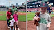 5-year-old battling brain cancer throws first pitch at Boston Red Sox game