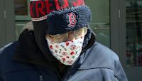 Boston Red Sox fan attends 75th opening day game at Fenway Park