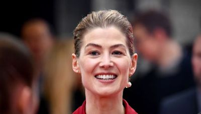 'We're all losing our grip on what we look like': Rosamund Pike speaks out on being photoshopped for film posters