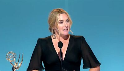 Kate Winslet Wins Lead Actress in a Limited Series at 2021 Emmys: 'Mom, They're Standing Up'