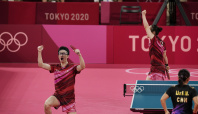 Japan upsets China for table tennis mixed doubles gold