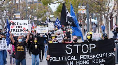 【聲援47】加州港人快閃集會遊行 撐香港被捕手足