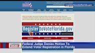 judge Denies Motion For Extension Of Florida Voter Registration Deadline