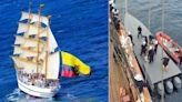 傳統戰勝科技 厄瓜多帆船逮運毒艦
