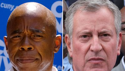 NYC mayoral candidate Eric Adams distances himself from an ally, calls for 'reset' from de Blasio