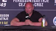 """UFC president Dana White: """"we're gonna prove that pro sports can come back safely"""""""